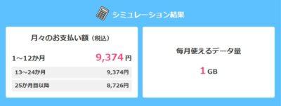 docomo+光で9,374円/月